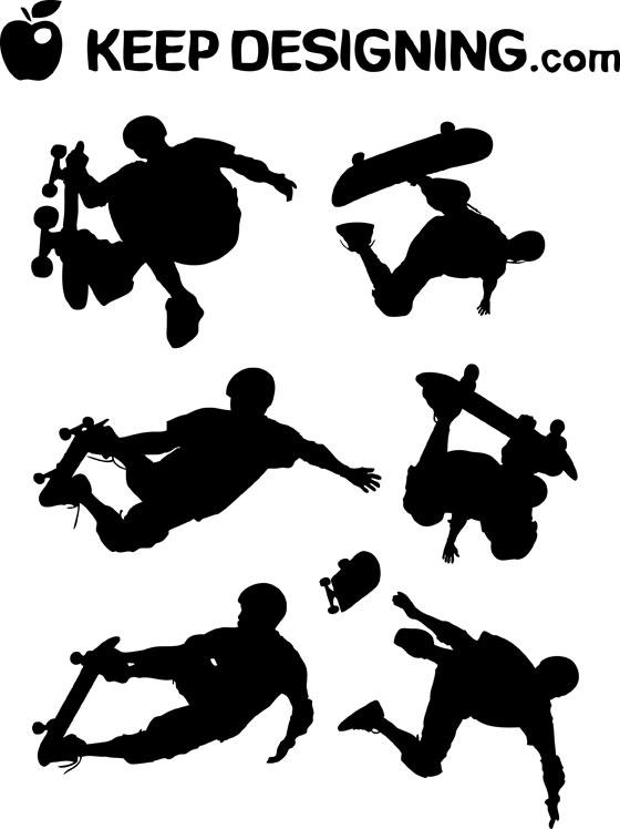 Skateboard Silhouette Clip Art